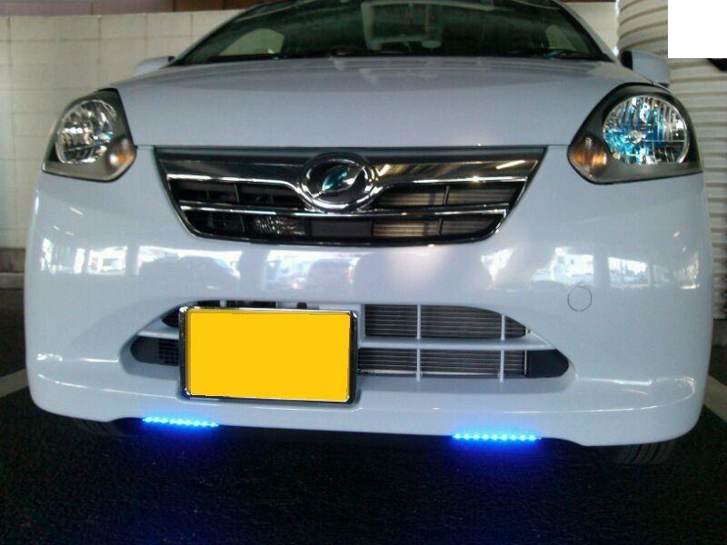青色LEDデイライト 自作・取付