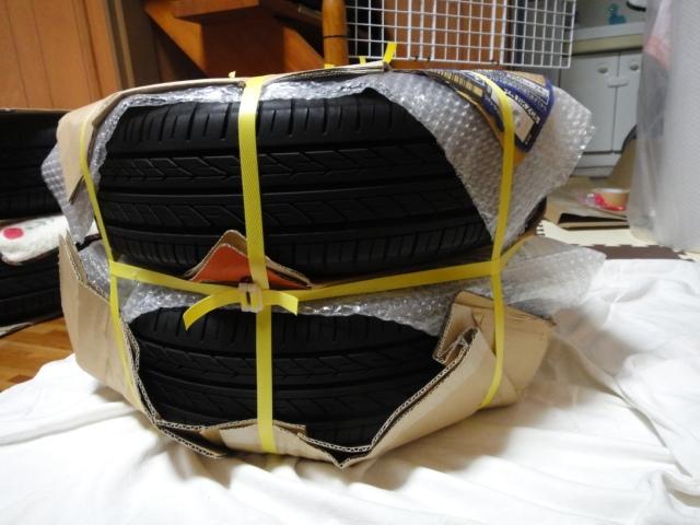タイヤ付きホイールの梱包・発送方法【デカイ!重い!】②