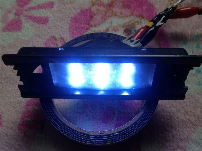 廃品再生LEDナンバー灯