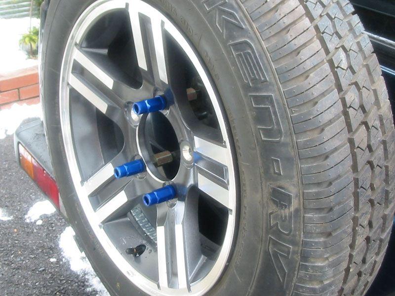 背面タイヤ取り付け変更