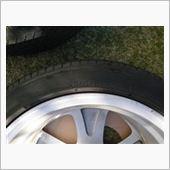 交換前 純正タイヤの写真です。<br />   TOYO 215/45R17 87W