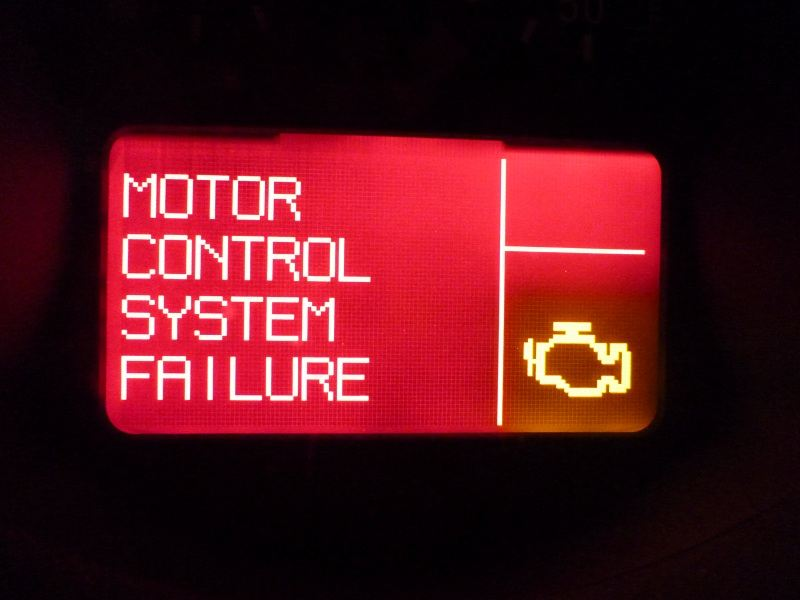 MOTOR CONTROL SYSTEM FAILURE