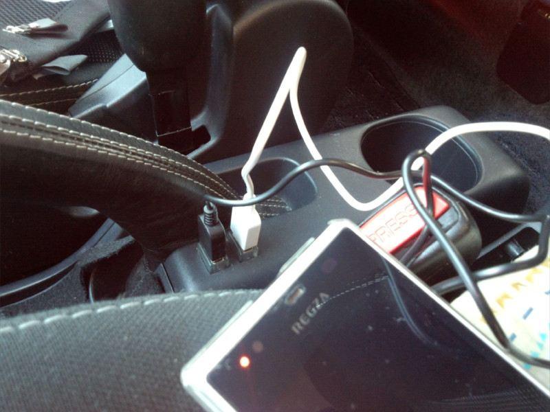 USB電源とドリンクホルダーイルミ増設