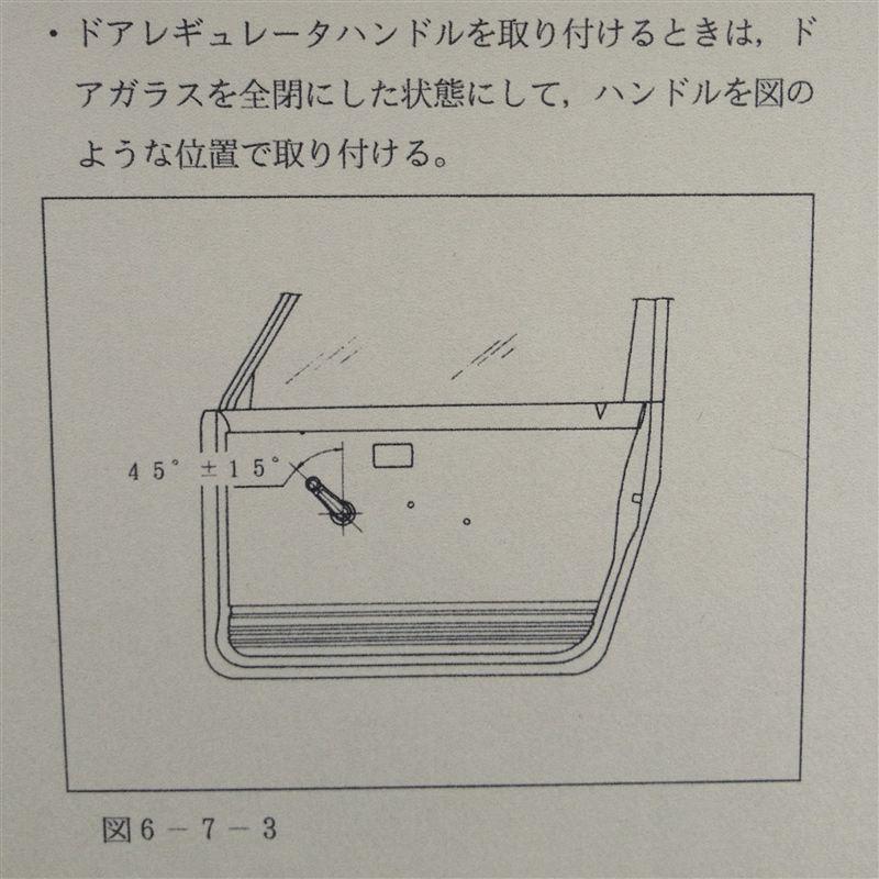 レギュレーターハンドルの位置調整