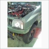 JB23W排気漏れ修理の画像