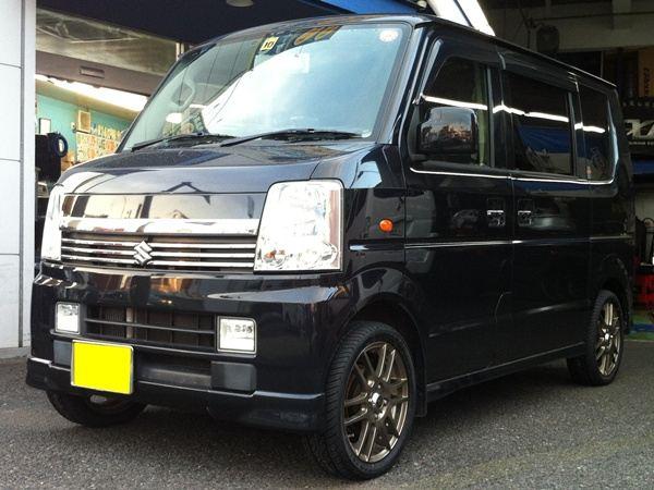 【江戸川店】エブリイ FEDERAL(フェデラル) FD1にタイヤ交換