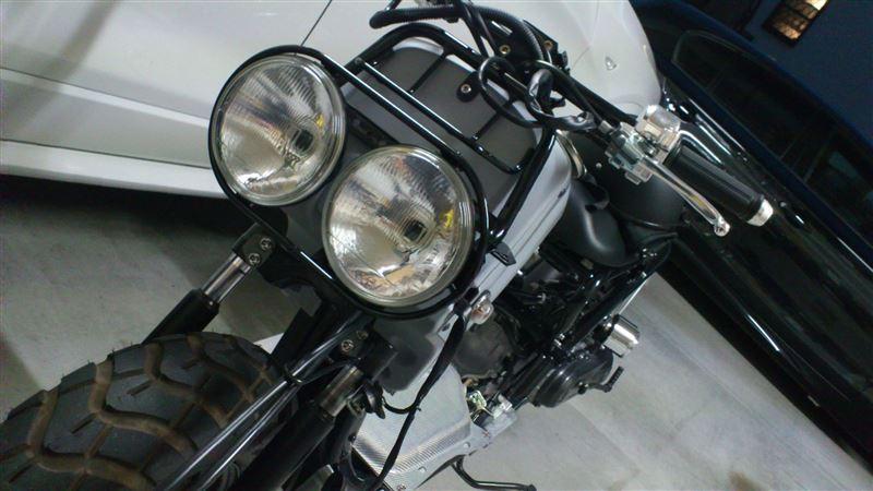 ズーマー PS250ヘッドライト 流用加工
