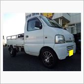 【KAZO店】軽トラックにV-Line(モンツァジャパン)14インチセット取付
