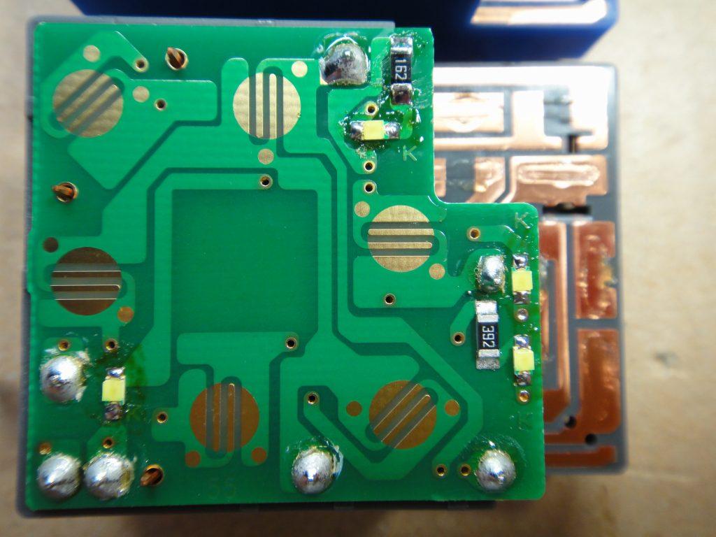 【C26】ドアミラースイッチのLED打ち換えと発光化