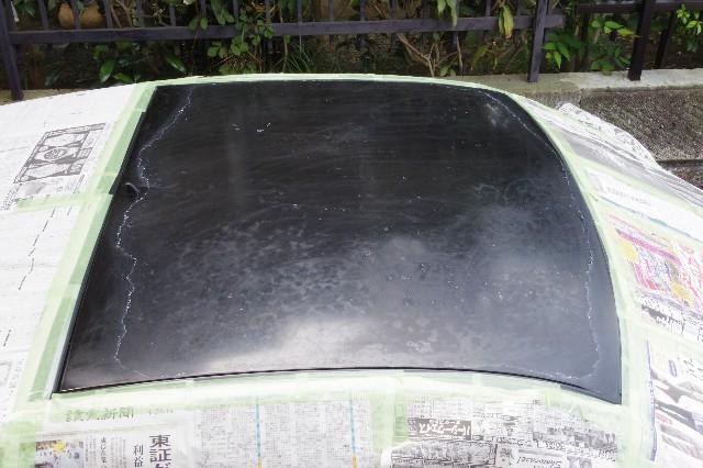 屋根のクリア塗装