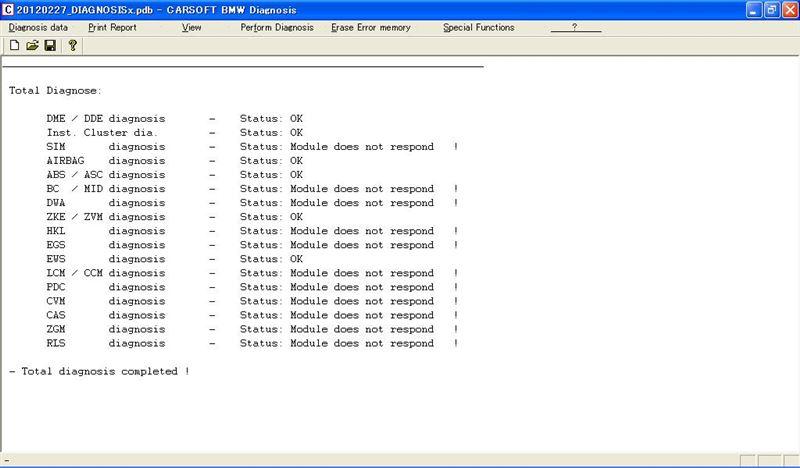 BMW 診断ソフト carsoft6.5 作業まとめ その2