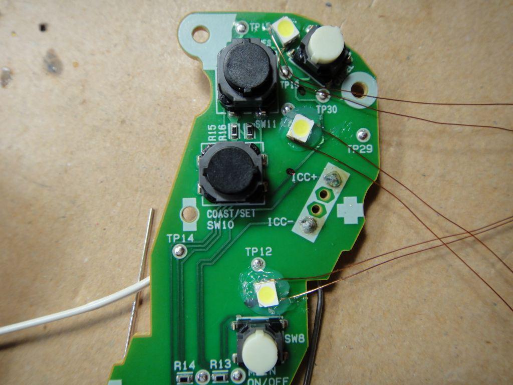 【C26】ステアリングスイッチをLEDで発光化②