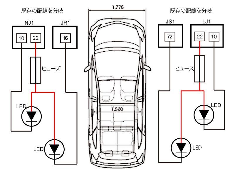 プリウスα専用ステンレス製LEDスカッフプレート取付(2/2)