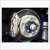 【江戸川店】ブレーキキャリパー&ローター シャンパンゴールドに塗装の画像