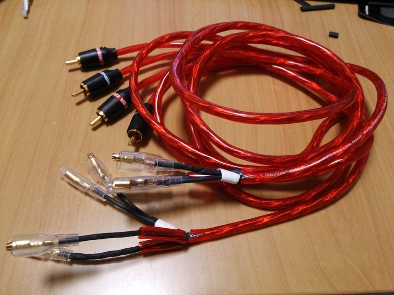 電源ケーブルの引き回しと、ラインケーブルの加工(その1)