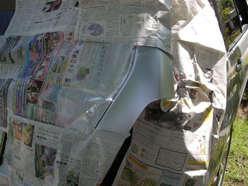 続、郵便ポスト・・・。2次作業「再塗装」。