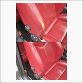 アルファロメオGT シートの皮リペア シート補修の画像