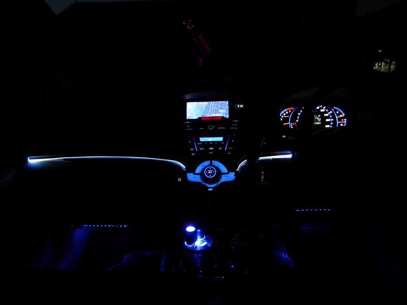 ダッシュボードLED間接照明