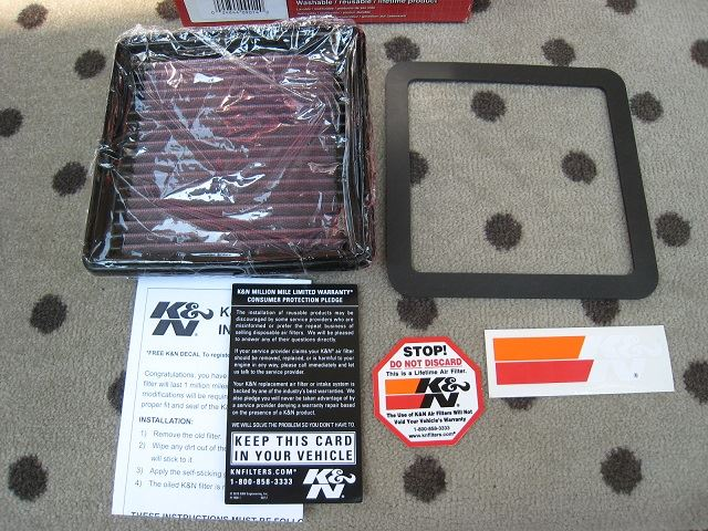 K&N HIGH-FLOW AIR FILTER に交換(*^^*)