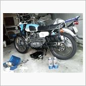 CL250 エンジンオイル交換