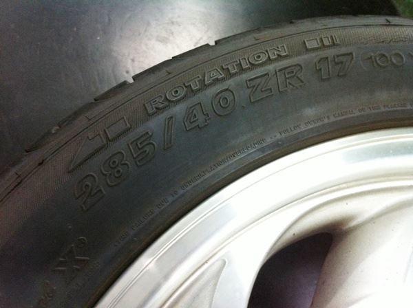 【江戸川店】 コルベット 持込タイヤ交換! 285/40R18(リア)