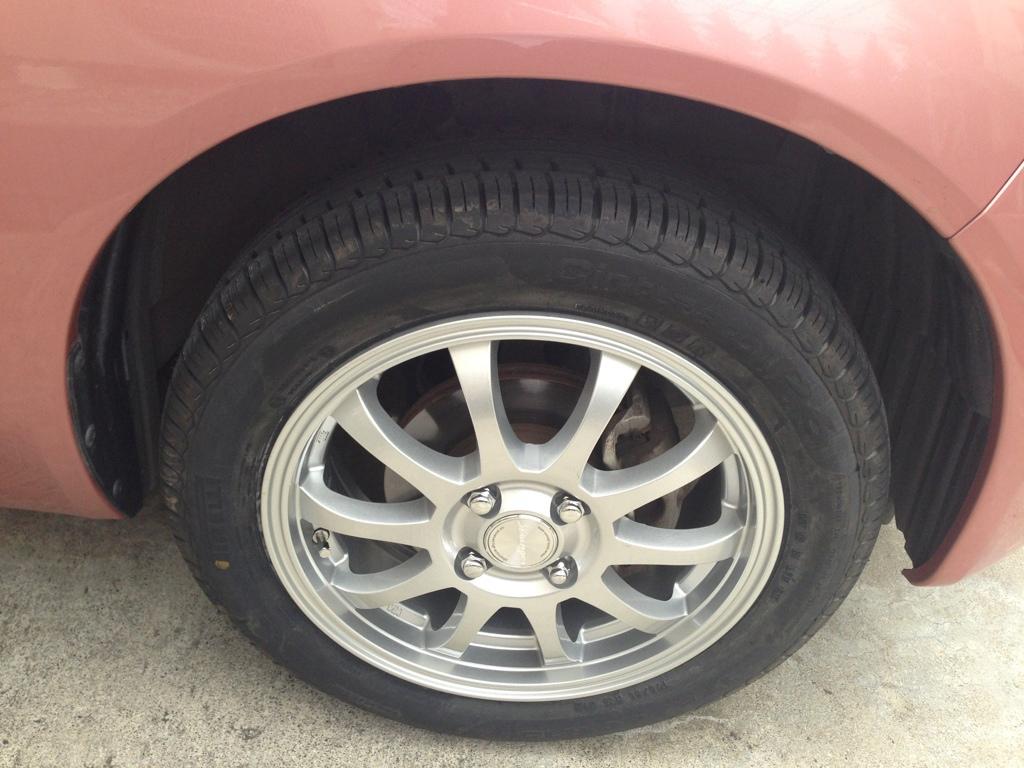 タイヤ新調&15インチアルミ
