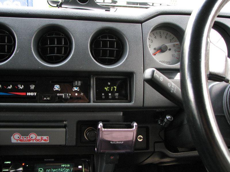 トヨタ純正電波時計取り付け