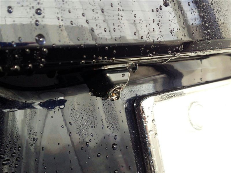 バックカメラの水滴対策