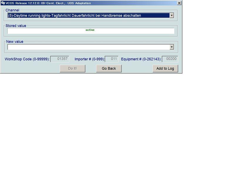 VCDSによるDRLのコーディング