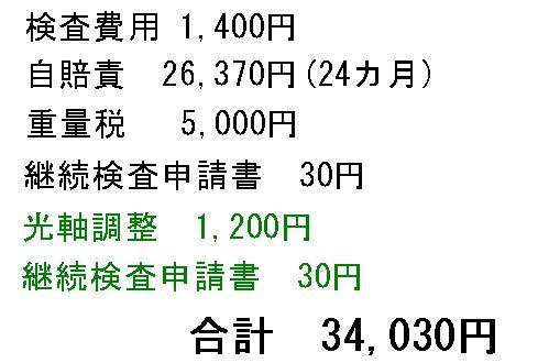 ユーザー車検 7年目
