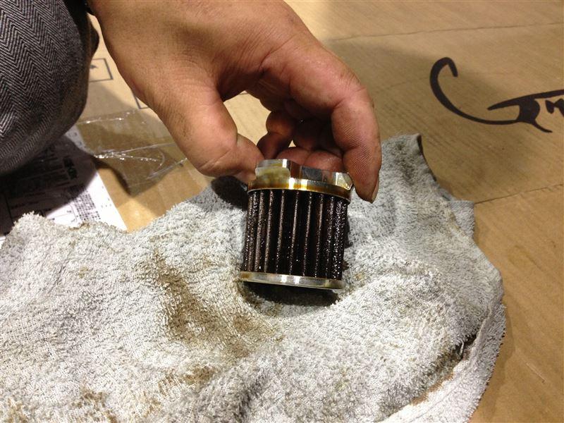 エンジンオイルフィルタ洗浄&エンジンオイル交換