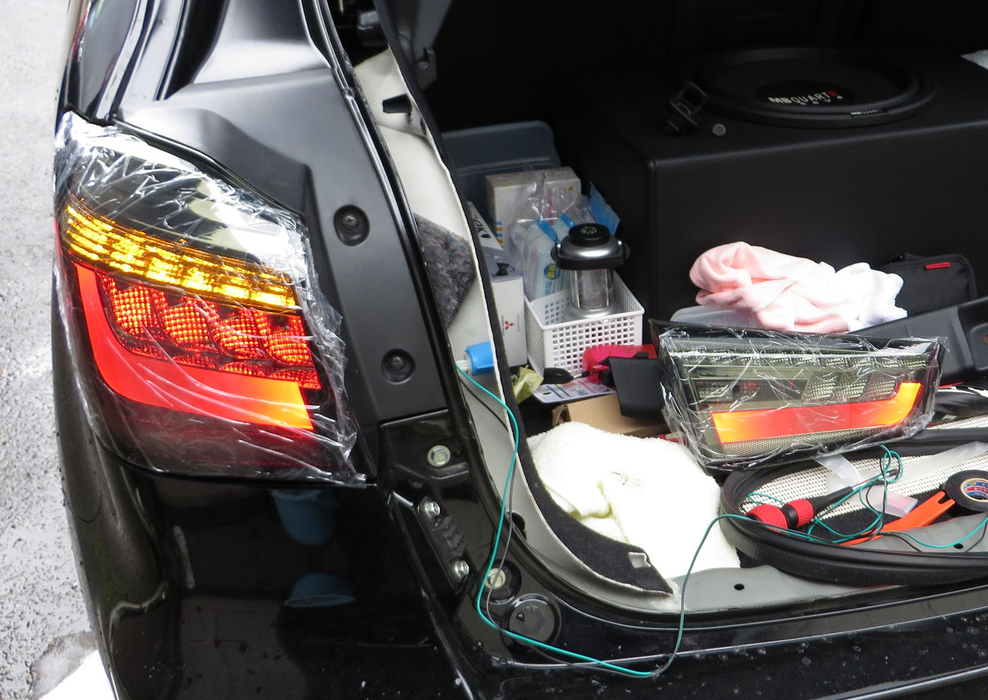 ASX用LEDテールランプ・ブラッククリアテール
