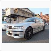 BMW318i 左前部のキズへこみの板金修理塗装です。東京都立川市よりご来店です。 の画像