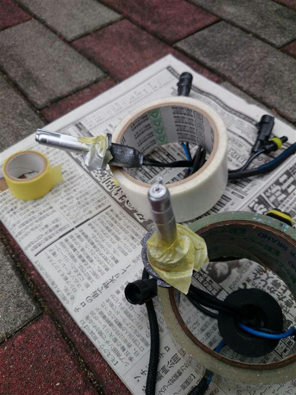 バラスト塗装/ヘッドライト清掃