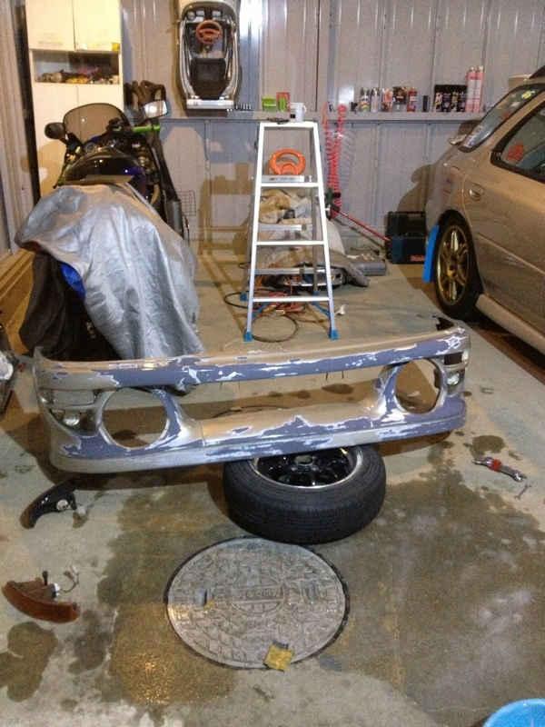 WRCバンパー補修