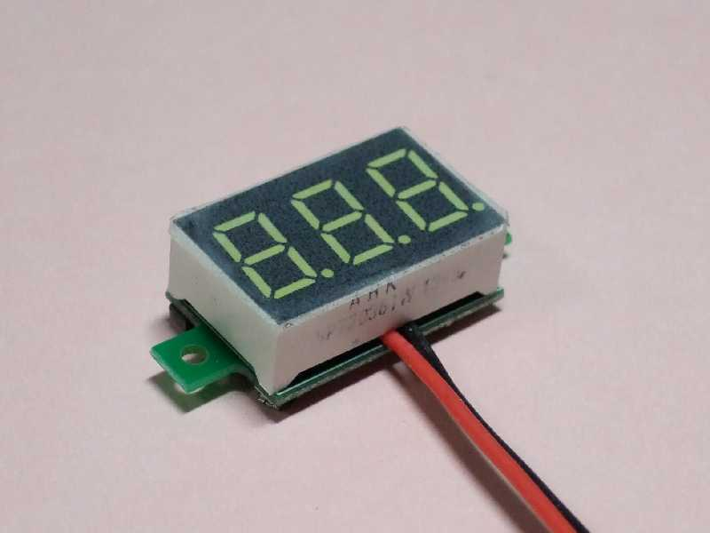 電圧計の自作と取り付け