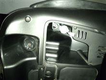 スカラベオ250 スマホホルダート取付と電源の確保のカスタム手順2