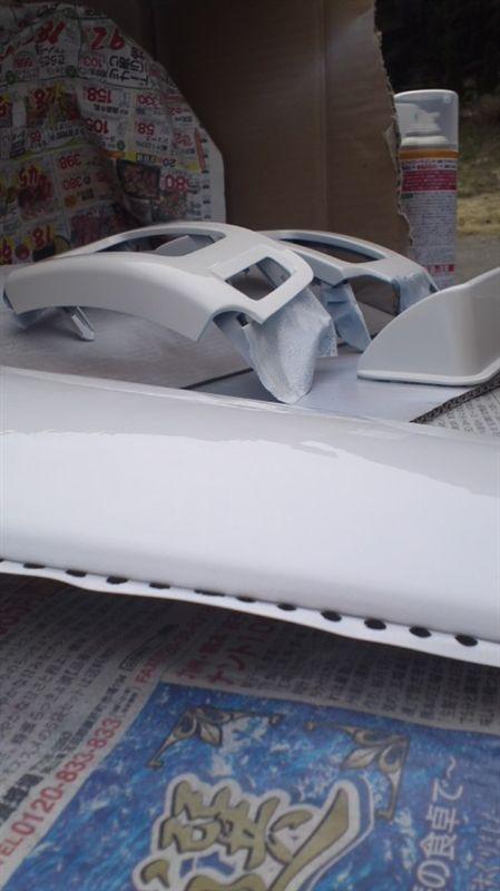 ホワイトパール塗装(実験)
