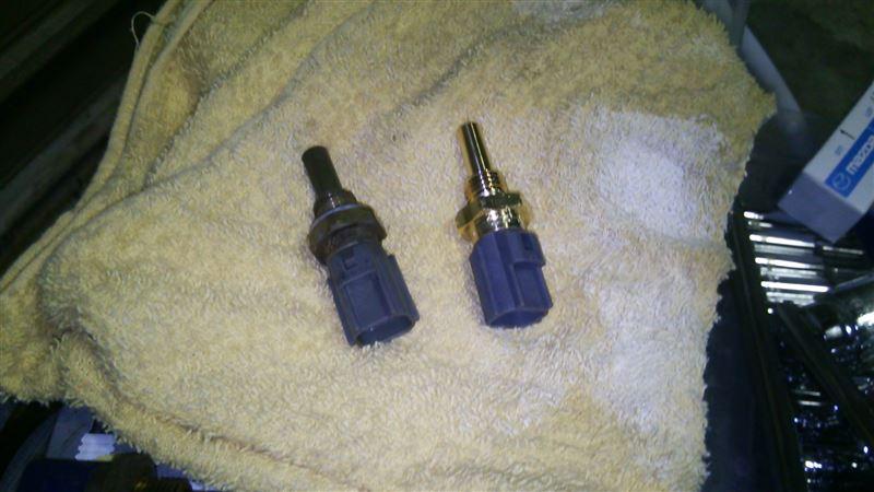水温センサー&吸気温センサー 交換