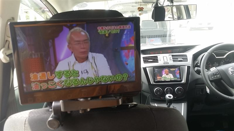 Headrest monitor mounting♪
