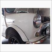 ローバーミニ ブレーキ修理の画像