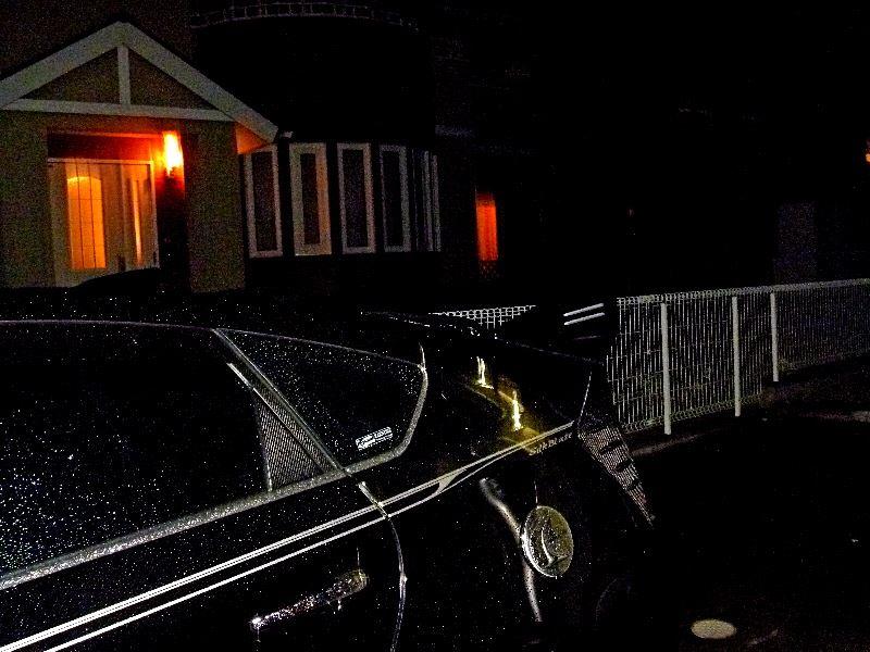 ダミーダクト 再装着 雨の合間の夜中の作業