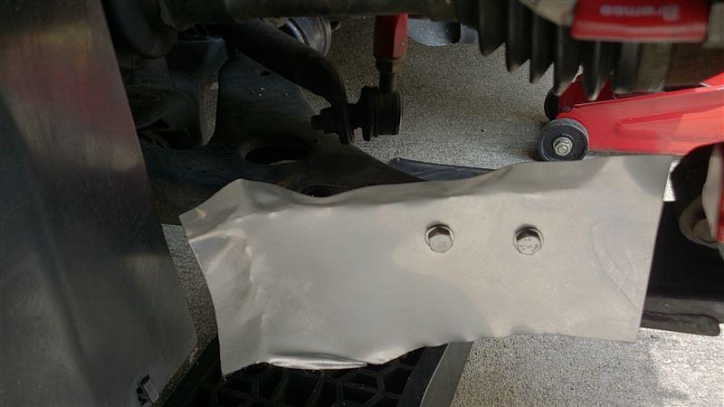 自作ブレーキ導風板自作しました、  BK