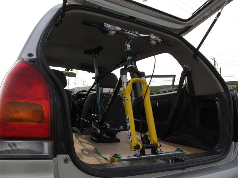 自転車の車内積みベースを作ってみる