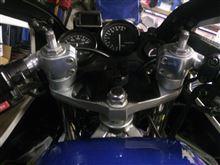FZR250 ナビの取り付け台のカスタム手順2
