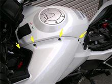 ムルティストラーダ1200 バイクナビ取付 その3のカスタム手順1