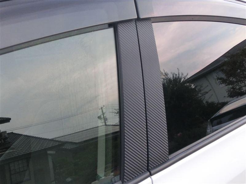カーボンピラーシート貼り付けとTRD純正風カスタム