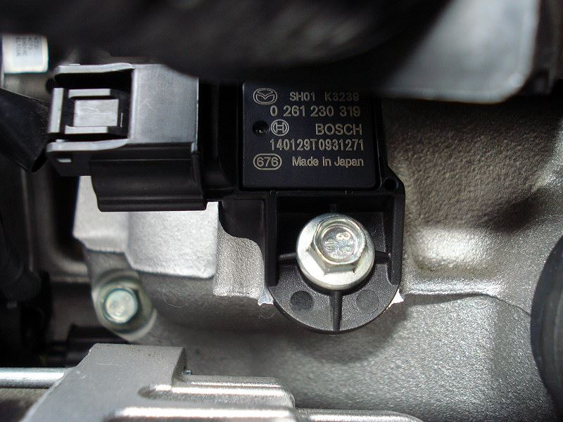 吸気圧センサー清掃