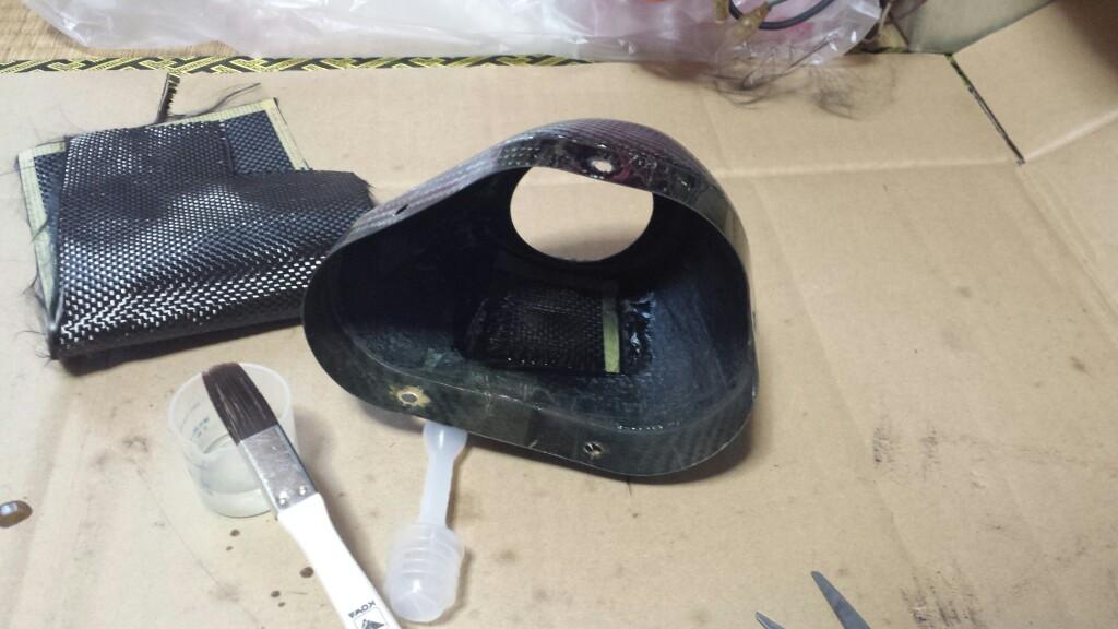 USヨシムラR-77のカーボン部品の補修