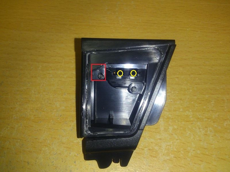 ウェルカムライトに面発光LED取り付け